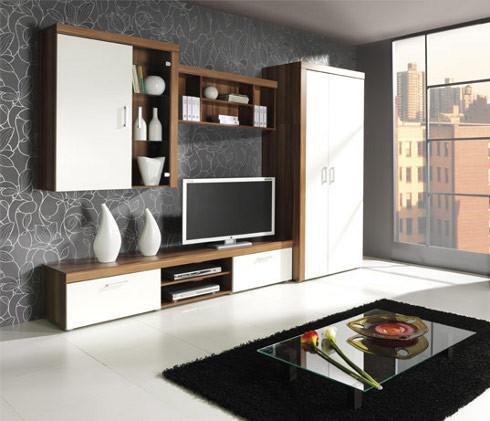 Elegantní nábytek SAMBA sestava 2 švestka / krémový