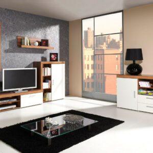 Stylový nábytek do obývacího pokoje SAMBA 3 švestka / krémový