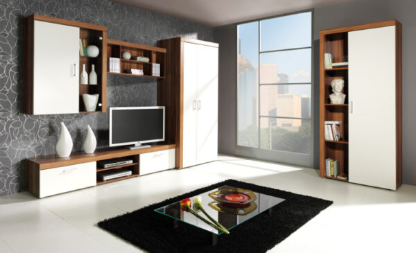 Systémový nábytek do obývacího pokoje SAMBA 4 švestka / krémový