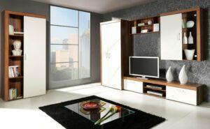 Trendy nábytek SAMBA sestava 5 švestka / krémový