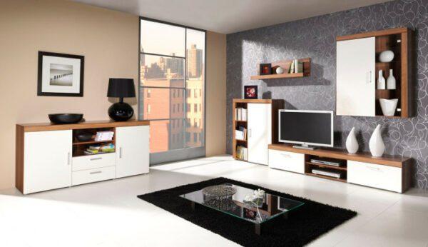 Stylový nábytek SAMBA sestava 6 švestka / krémový