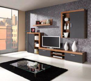 Systémový nábytek SAMBA do obýváku sestava 8 švestka / grafit