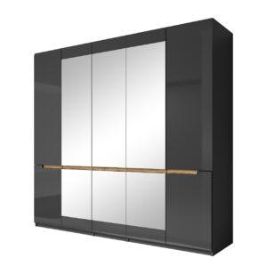 Šatní 5D se zrcadlem HEKTOR HR21 antracit lesk