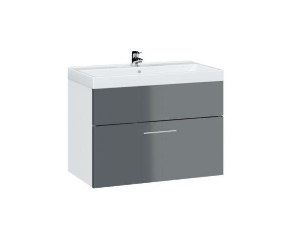 Skříňka pod umyvadlo LUPO / TIPO LP2 bílý / grafit lesk