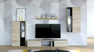 Levná obývací stěna SALSA sonoma - rychlé doručení