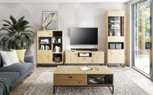 Systémový nábytek OLIER 1 dub artisan / černá