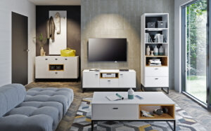 Systémový nábytek OLIER 2 bílý / dub artisan