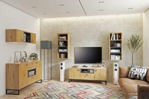 Systémový nábytek OLIER 5 dub artisan / černá