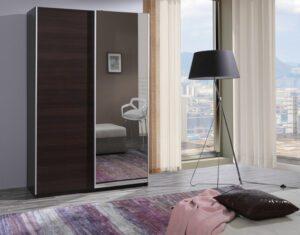 Moderní šatní skříň FIFI se zrcadlem