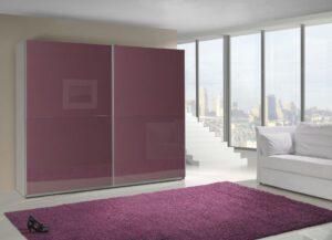 Stylová šatní skříň s posuvnými dveřmi LUX 7 lesk
