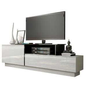 TV stolek SIGMA 3A bílý / černý