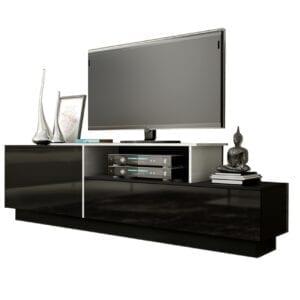 TV stolek SIGMA 3C černý / bílý