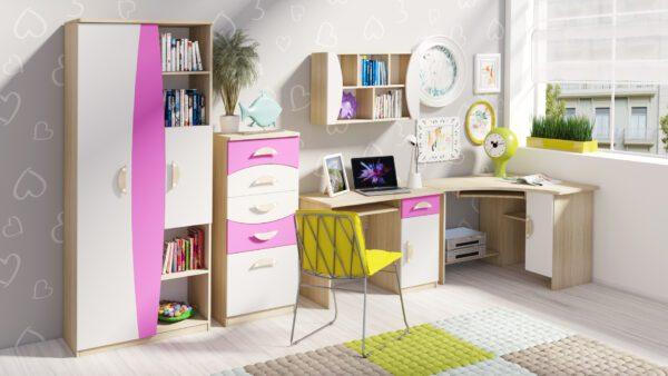 Stylový nábytek do dětského pokoje TENUS II Sestava 3