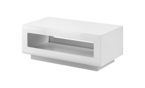 Konferenční stolek TU99 TULSA Bílý laminát / Bílý lesk