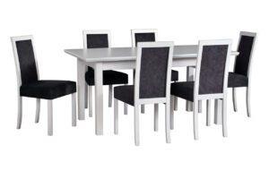 Stůl WENUS 5 LS + Židle ROMA 3 (6ks.) DX37