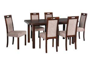 Stůl WENUS 5 + Židle ROMA 5 (6ks.) DX38