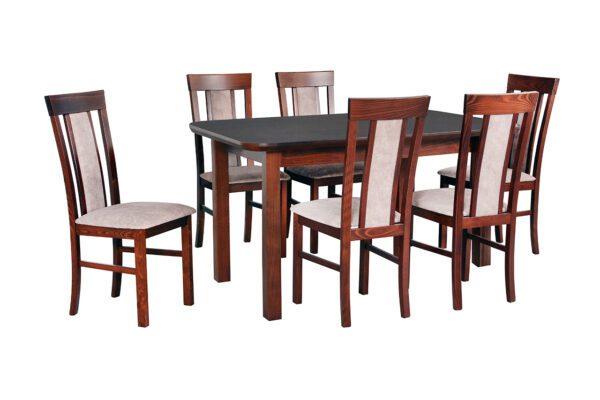Stůl WENUS 5S + Židle MILANO 8 (6ks.) DX35