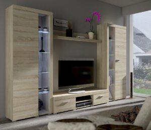 Obývací stěny RUMBA / RODOS XL Sonoma
