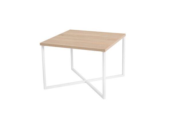 Konferenční stolek PRATO Sonoma / Bílý