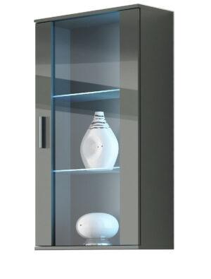 Závěsná vitrína SOHO SH2H šedá lesk