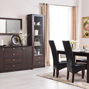 Tmavý systémový nábytek FINEZJA sestava 12
