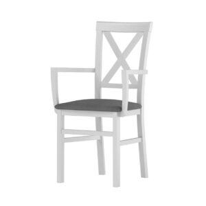 Židle ALICE 102 bílý sibu / šedá savana 21