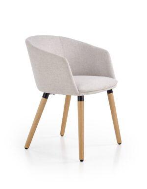 Čalouněné jídelní židle K266 světle šedá