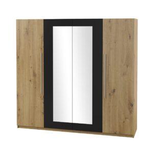 Skříň se zrcadlem VERA VE20 dub artisan / černý