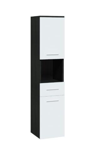 Skříňka vysoká LUPO / TIPO LP1 wenge / bílý laminát