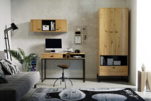 Studentský nábytek OLIER 3 dub artisan / černá