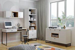 Studentský nábytek OLIER 4 bílý / dub artisan