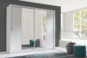 Luxusní šatní skříň s posuvnými dveřmi VISTA 200 bílý mat